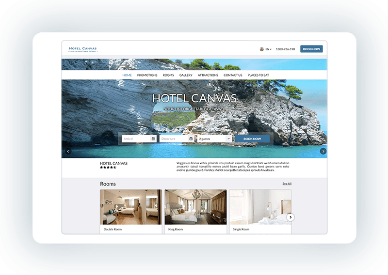 Hotel website template - Ally