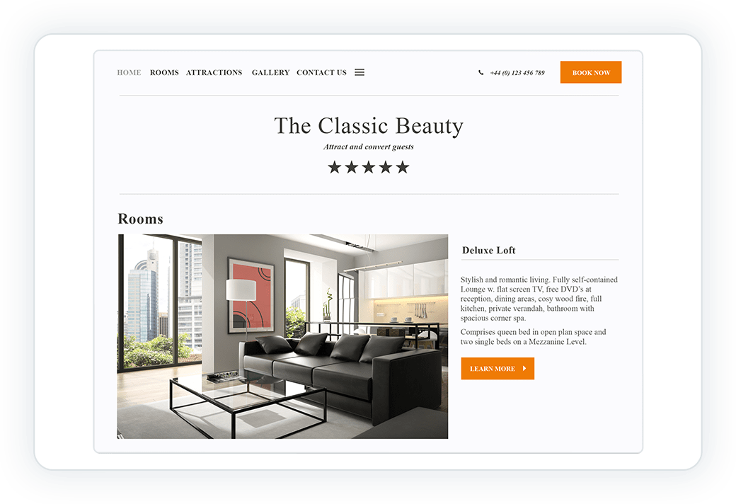Classic beauty web design template