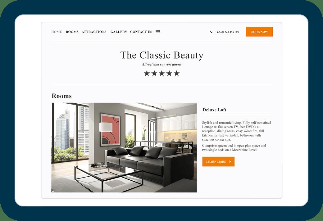 Classic beauty web design template