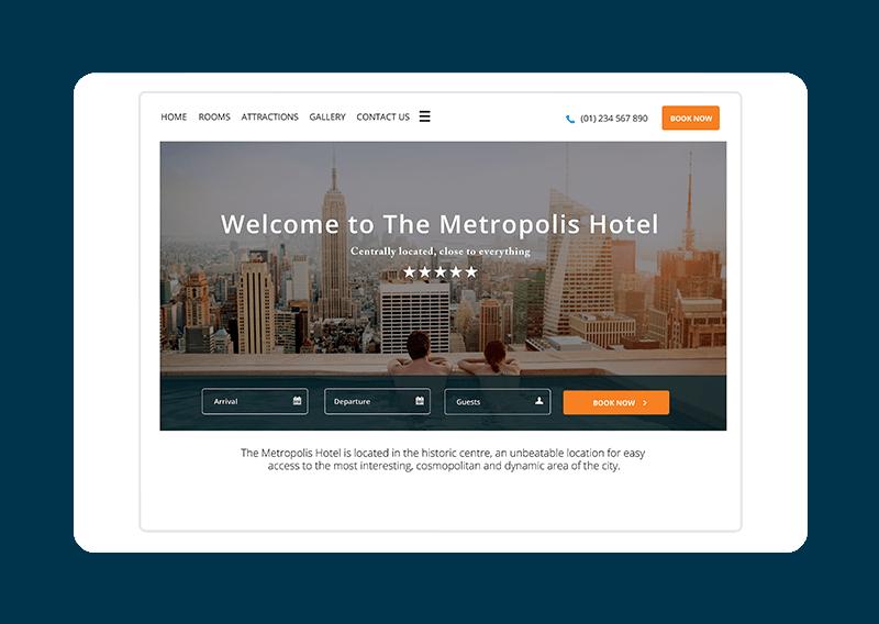 Hotel website template - Metropolis