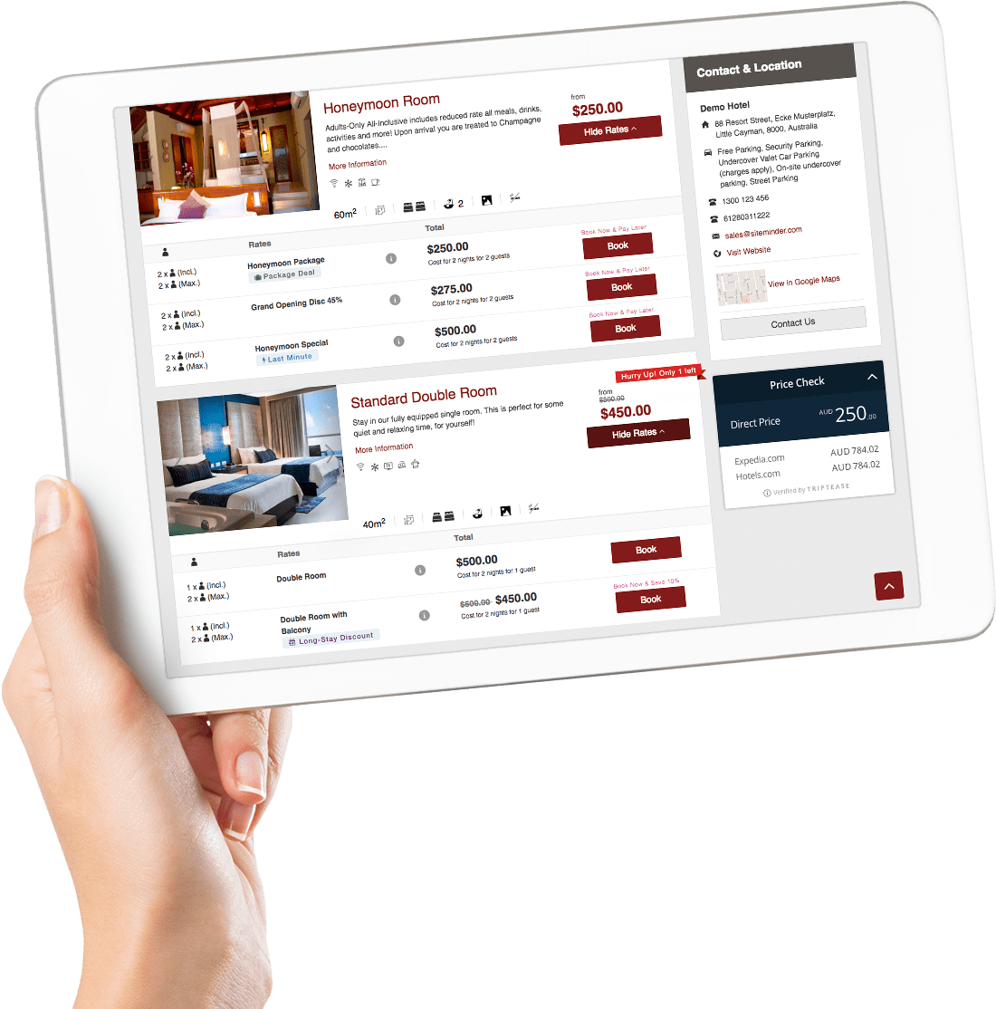Optimise hotel bookings to reduce abandonment